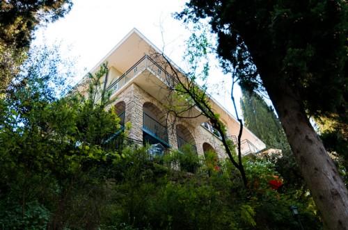 Park with Stone Villa