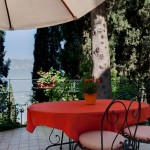 Terrace with lake Garda view